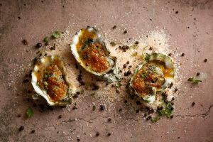 Baked Freshly-Shucked Oysters